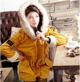 Japon Style Kışlık Kürklü Bayan Kaban