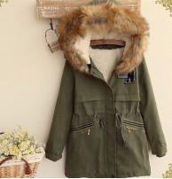 Japon Style, Kürklü Yeşil N Kaban
