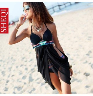 Japon Style Siyah Bikini Süper Tarz
