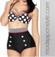 Japon Style Bikini Yüksel Bel
