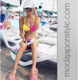 Japon Style Çift Renk Sexy Bikini