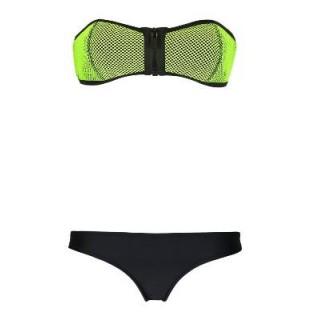 Japon Style Fileli Yeşil Bikini