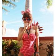 Japon Style Benekli Kırmızı Bikini