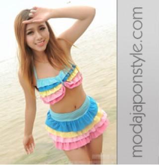 Japon Style Renkli Bikini