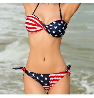 Japon Style Amerikan Bayraklı Bikini