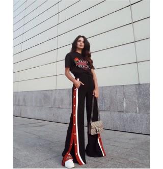 Japon Style Çıt Çıtlı Pantolon