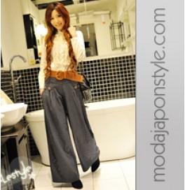 Japon Style Geniş Kot Pantolon Kovboy