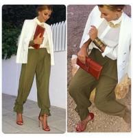 Japon Style Yüksek Bel Şalvar Pantolon