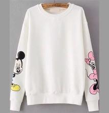 Mickey Mouse Beyaz Sweatshirt