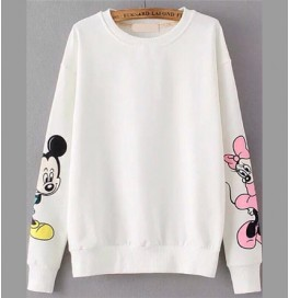 Mickey Mouse Beyaz Sweatshirt