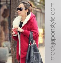Japon Style Kürklü Sweatshirt