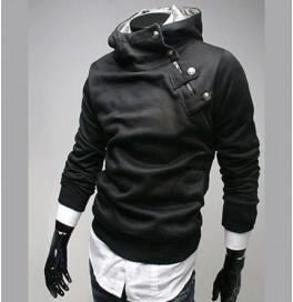 Japon Style Erkek Zımbalı Sweatshirt