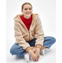 Japon Style, Kapşonlu suni yün ceket