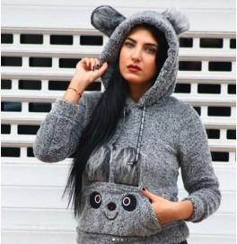 Japon Style Panda Sweatshirt Kanguru Cep