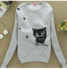 Japon Style, Kedili Sweatshirt 3 iplik
