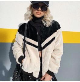 Japon Style, Kürk Sweatshirt Ceket