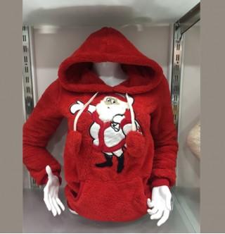 Japon Style Noel Baba Sweatshirt Ponponlu