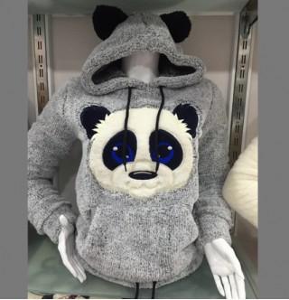 Japon Style Panda Pelus Sweatshirt