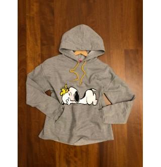 Japon Style, Snoopy Kapşonlu weatshirt Gri