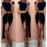 Japon Style 2 Parça Takım Siyah Elbise