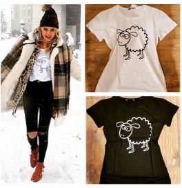Japon Style Kuzu Baskılı Tshirt