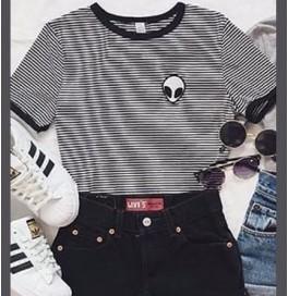 Japon Style Uzaylı Tshirt