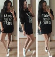 Japon Style Uzun Siyah Tshirt