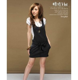Japon Style Elbise Tulum Kendinden Kemerli