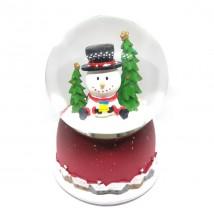 Otomatik Yeni Yıl Kar Küresi, Noel Baba, Kardan Adam