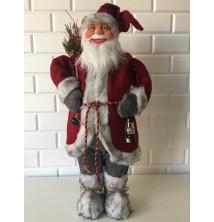 Lambalı Noel Baba Figürü, 65-70 cm Yılbaşı Hediyesi