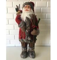 Odun Toplayan Noel Baba Figürü, 65-70 cm Yılbaşı Hediyesi