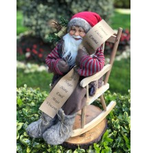 Sandalye isimli Noel Baba Figürü, 65-70 cm Yılbaşı Hediyesi