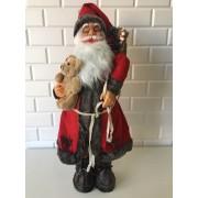 Ayıcıklı Noel Baba Figürü, 65-70 cm Yılbaşı Hediyesi, kırmızı noel baba, ayili noel