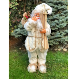 Kayak Yapan Noel Baba Figürü, 65-70 cm Yılbaşı Hediyesi