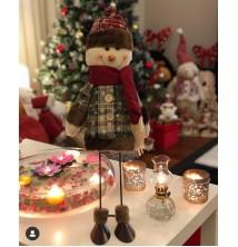 Yeni Yıl, Yılbaşı, Dekoratif Metal Bacaklı Oynar Kardan Adam